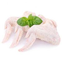 raw chicken on white background