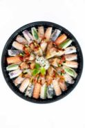 Ynj Japanese Catering Oriental Platter Large Circular